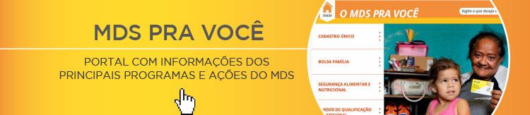 Portal voltado ao cidadão com informações sobre os principais programas e ações do MDS